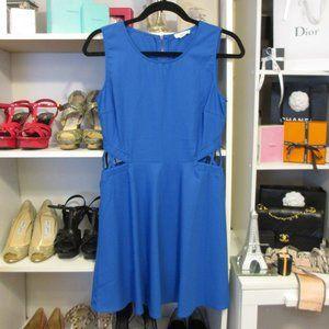 Mine Navy Blue Dress Side Cutout